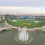 Hình ảnh toàn cảnh khu công viên vinhomes central park lớn nhất sài gòn
