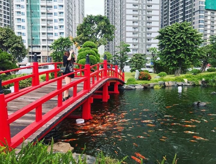 Một phong cách Nhật Bản đẹp mắt cũng được chủ đầu tư đưa vào công viên