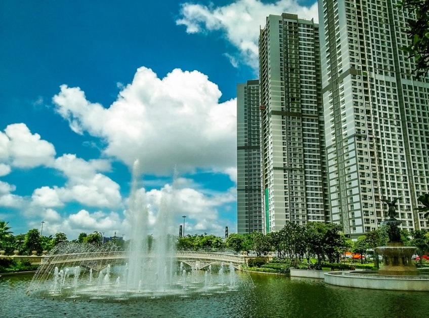 Nhạc nước nằm ngay trung tâm của công viên