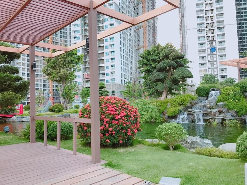 Mảng xanh rộng lớn nơi đây là yếu tố quyết định thành công của dự án Vinhomes Central Park